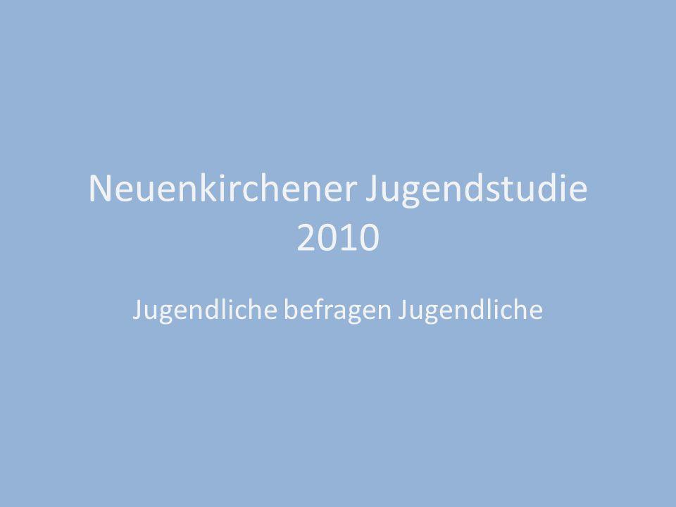 Neuenkirchener Jugendstudie 2010 Jugendliche befragen Jugendliche