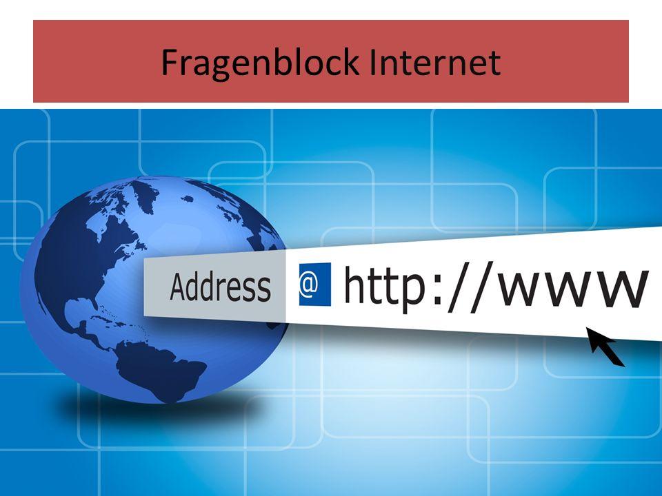 Fragenblock Internet