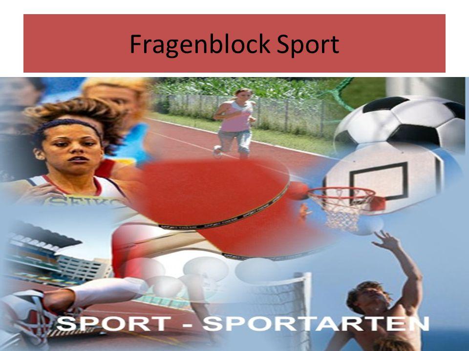 Fragenblock Sport
