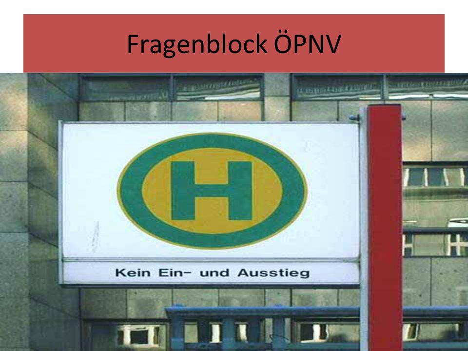 Fragenblock ÖPNV