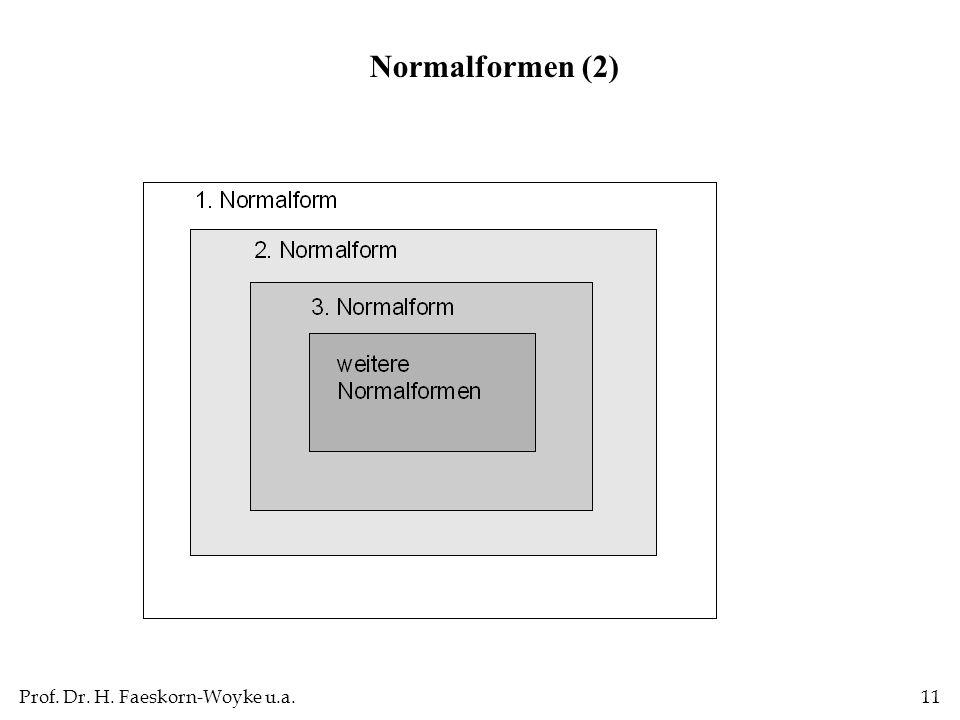 Prof. Dr. H. Faeskorn-Woyke u.a.11 Normalformen (2)