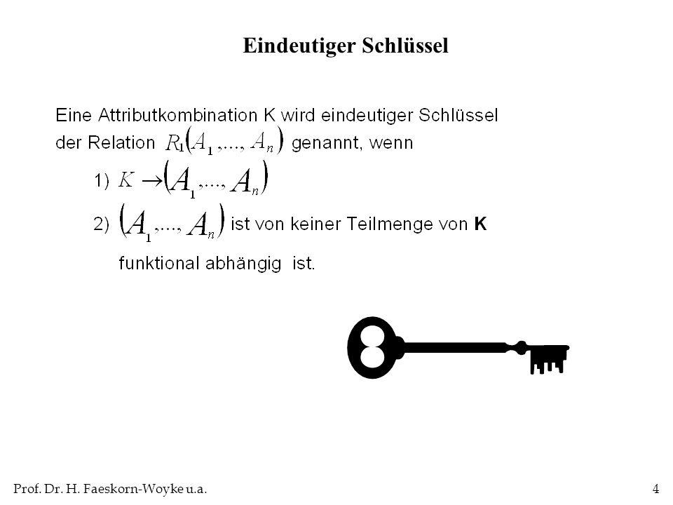 Prof. Dr. H. Faeskorn-Woyke u.a.5 Eindeutiger Schlüssel