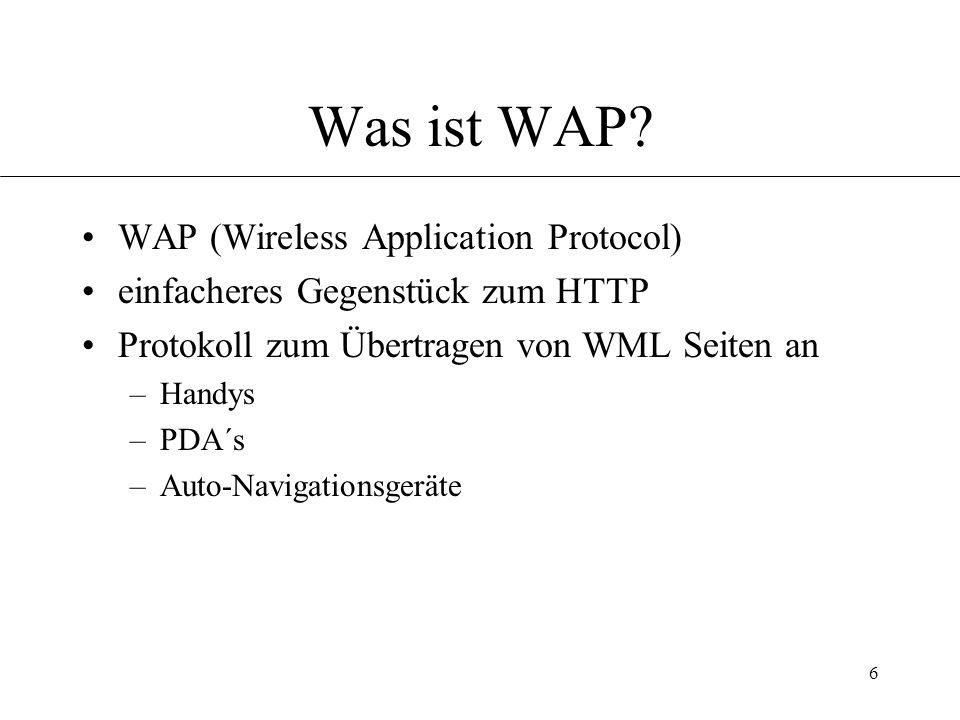 6 Was ist WAP.