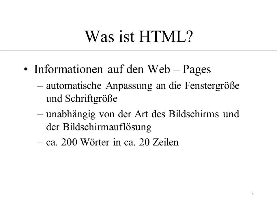 7 Was ist HTML.