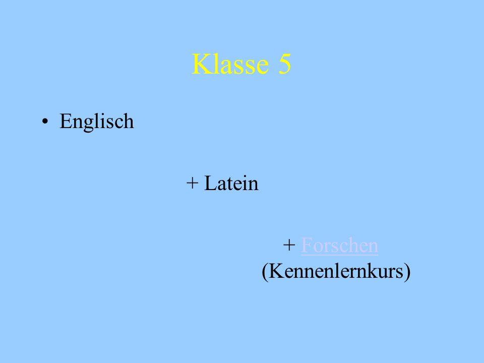 Hochbegabtenförderung in der Sek. I Schwerpunkte: Sprachen/Naturwissenschaften/Politik u. Wirtschaft