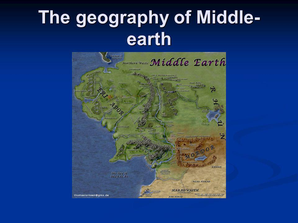 The geography of Middle- earth