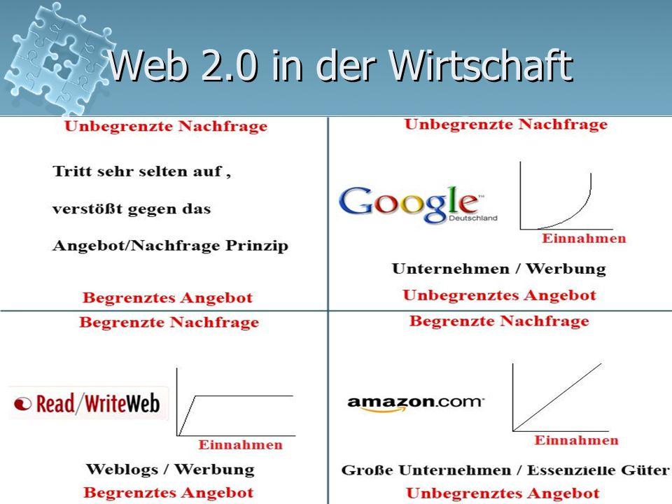 Web 2.018 Web 2.0 in der Wirtschaft