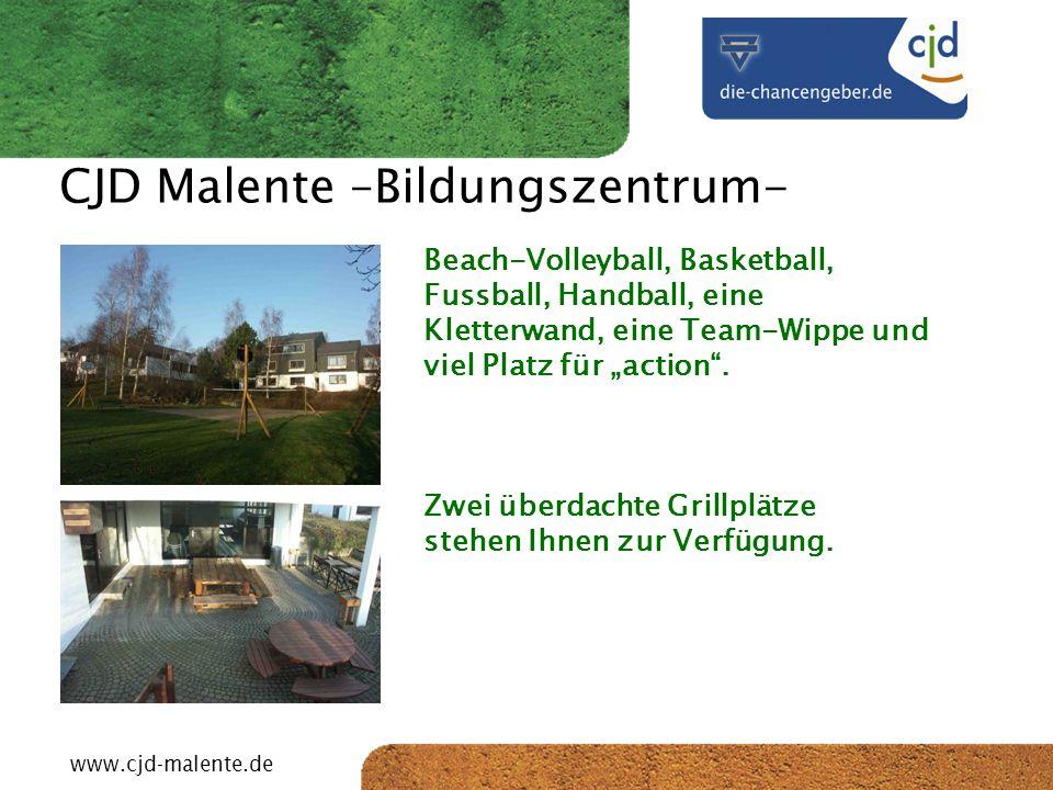 CJD-Musterstadt CJD Malente –Bildungszentrum- Beach-Volleyball, Basketball, Fussball, Handball, eine Kletterwand, eine Team-Wippe und viel Platz für a