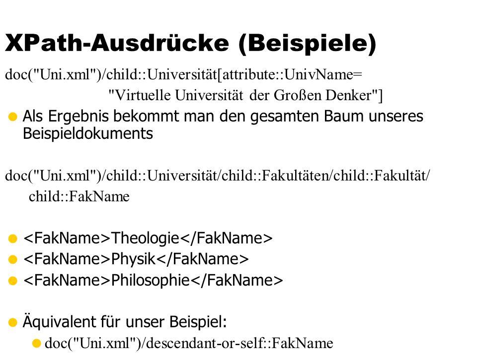 XPath-Ausdrücke (Beispiele) doc(