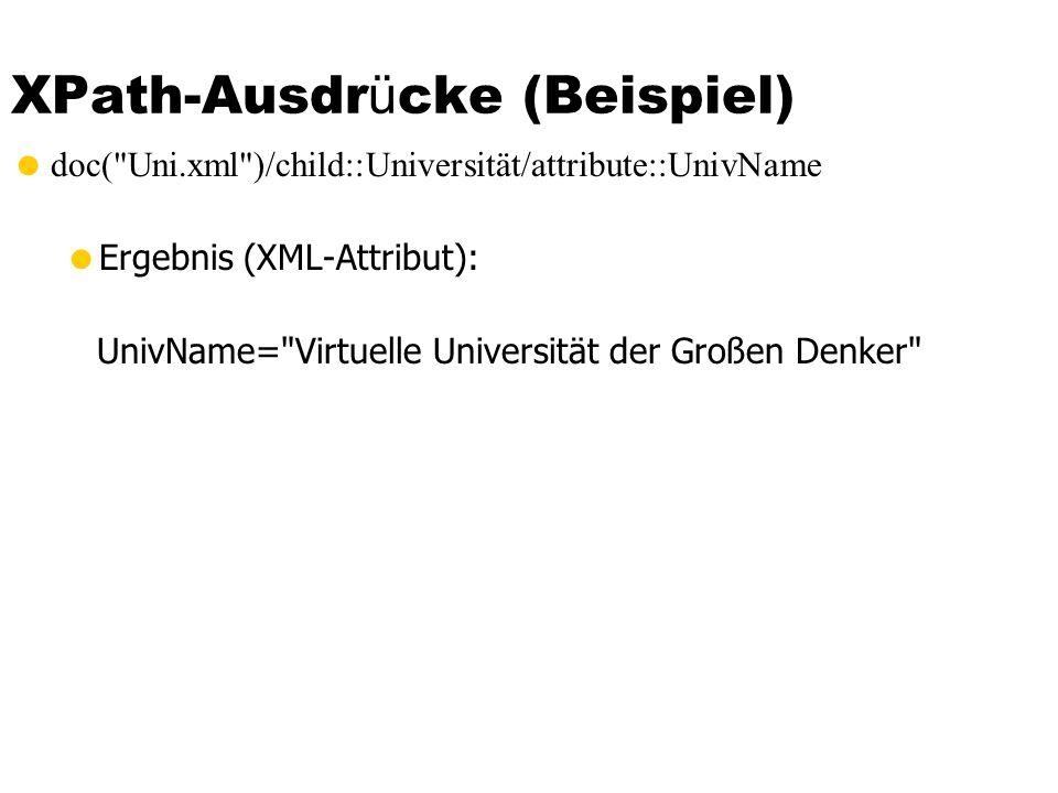 XPath-Ausdr ü cke (Beispiel) doc(