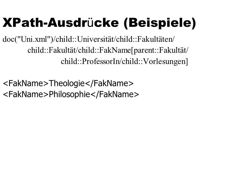 XPath-Ausdr ü cke (Beispiele) doc(