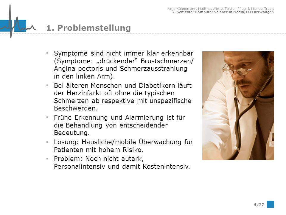 Anja Kühnemann, Matthias Wicke, Torsten Pflug, J. Michael Travis 2. Semester Computer Science in Media, FH Furtwangen 4/27 1. Problemstellung Symptome
