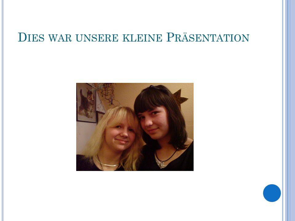 D IES WAR UNSERE KLEINE P RÄSENTATION
