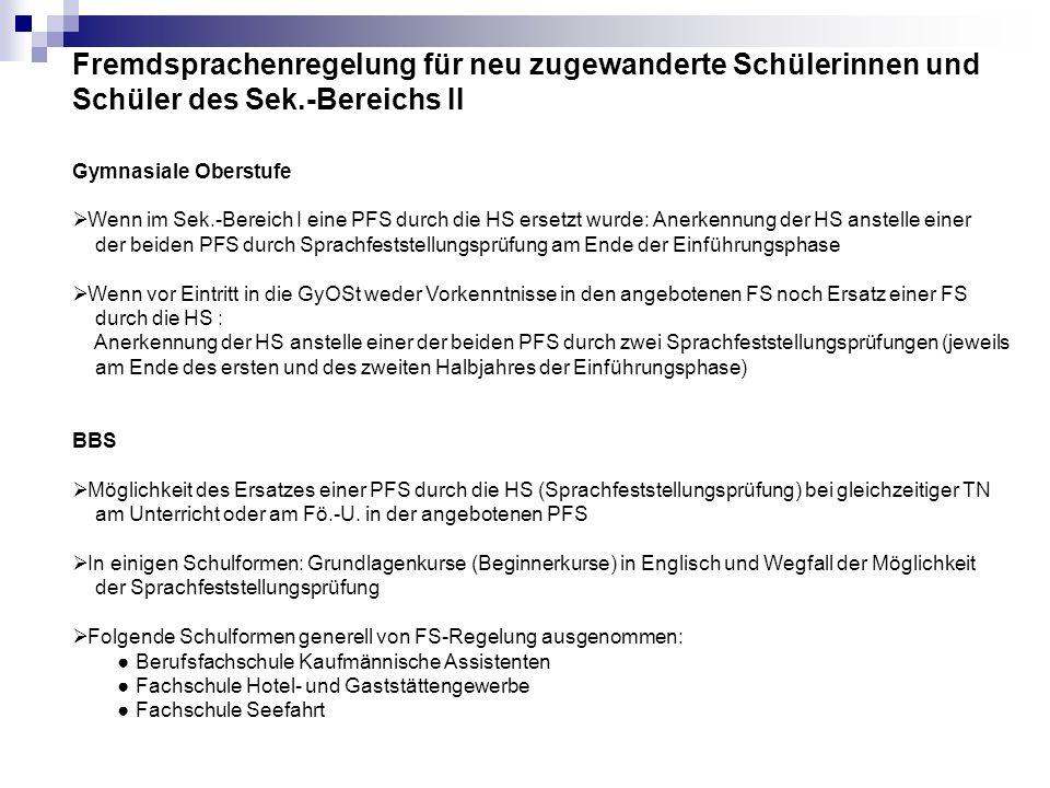 Leistungsbewertung in der Herkunftssprache Kl.
