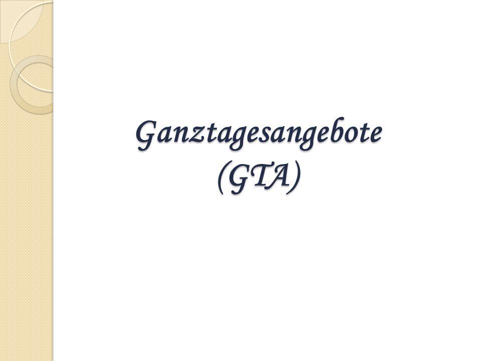 Ganztagesangebote (GTA)