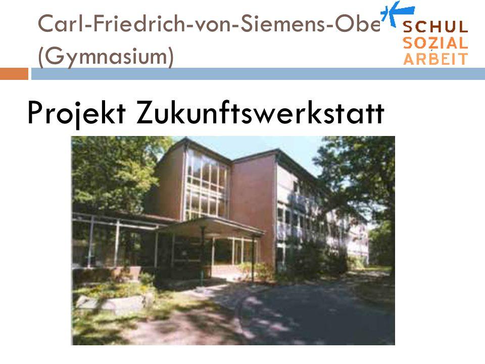 Carl-Friedrich-von-Siemens-Oberschule (Gymnasium) Ziel der Präsentation Einen Überblick über die Entwicklung am Siemensgymnasium geben und die Zukunftswerkstatt in den Entwicklungsprozess einordnen können