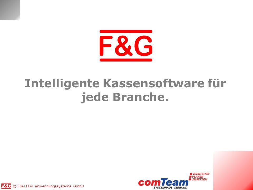 Copyright © F&G EDV Anwendungssysteme GmbH Intelligente Kassensoftware für jede Branche.
