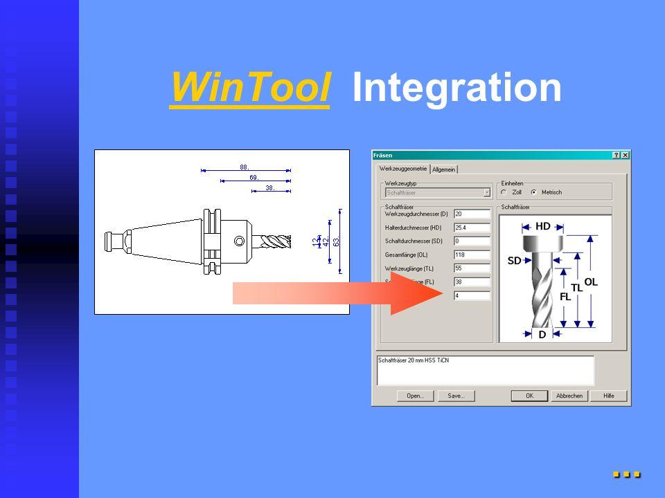 WinTool flexibel und einfach integrierbar flexibel und einfach integrierbar n Kataloge n Archiv n Werkzeugblatt n Rüstliste n Lagerkontrolle n Integra