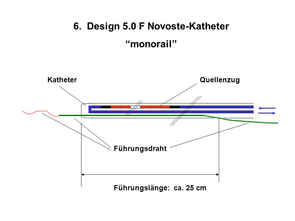 6. Design 5.0 F Novoste-Katheter monorail Quellenzug Führungsdraht Katheter Führungslänge: ca. 25 cm
