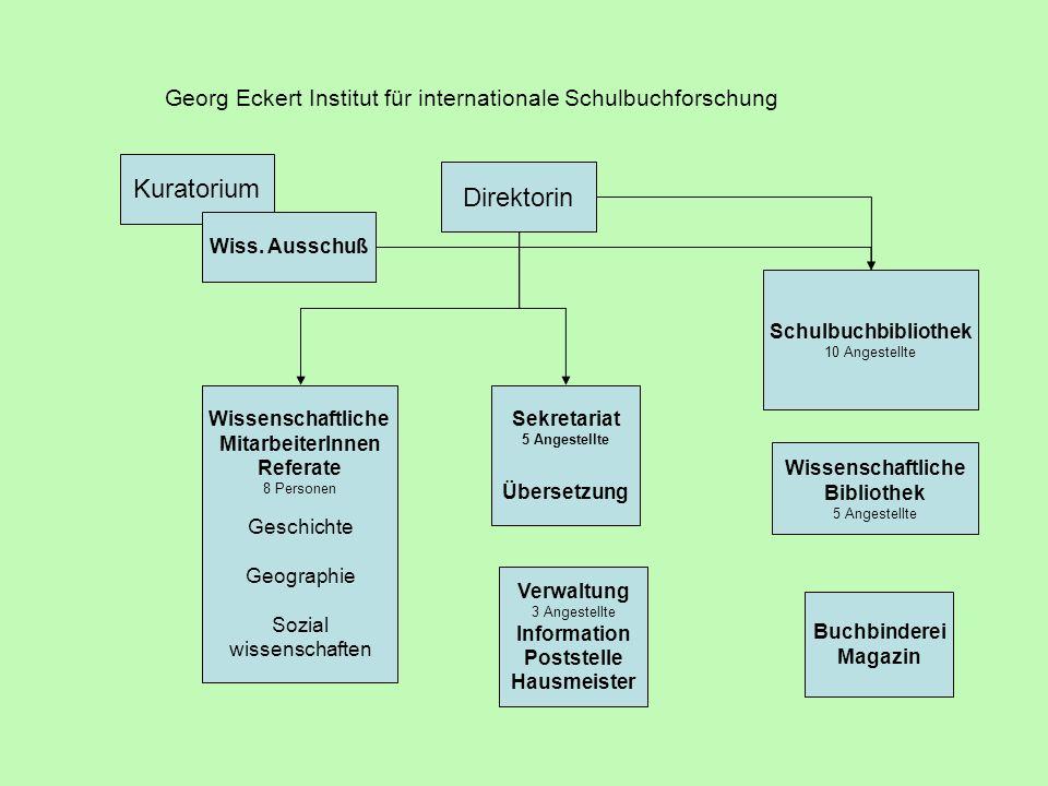 Georg Eckert Institut für internationale Schulbuchforschung Kuratorium Wiss.