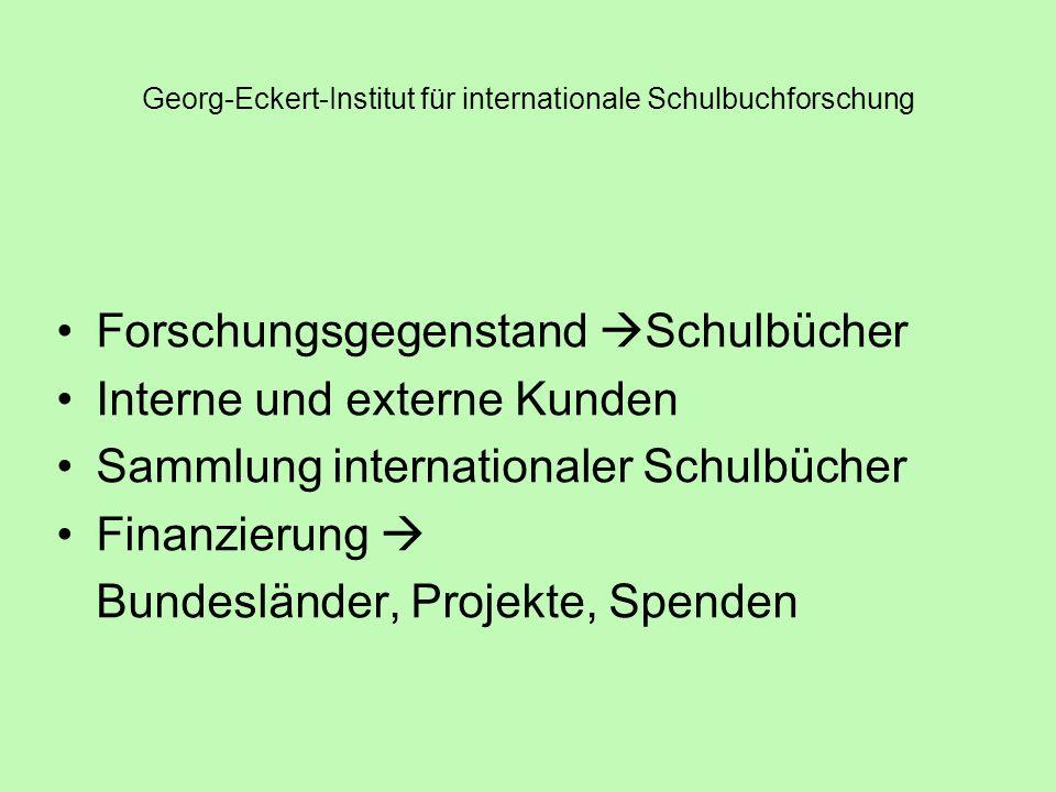 Georg-Eckert-Institut für internationale Schulbuchforschung Bestand: 210.000 Bde.