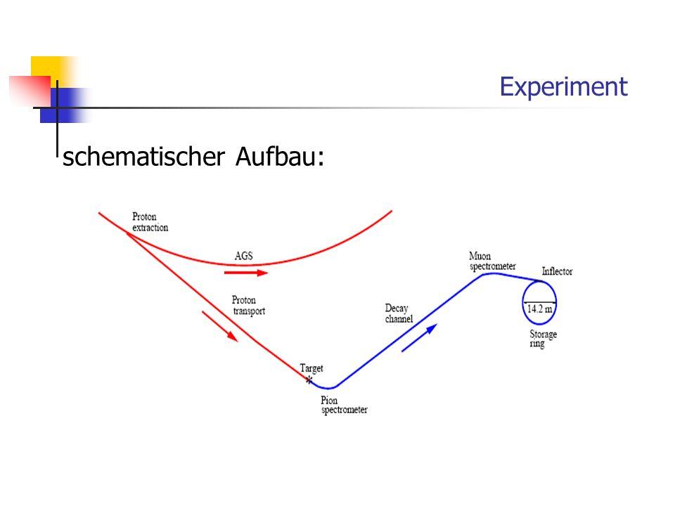 Experiment schematischer Aufbau: