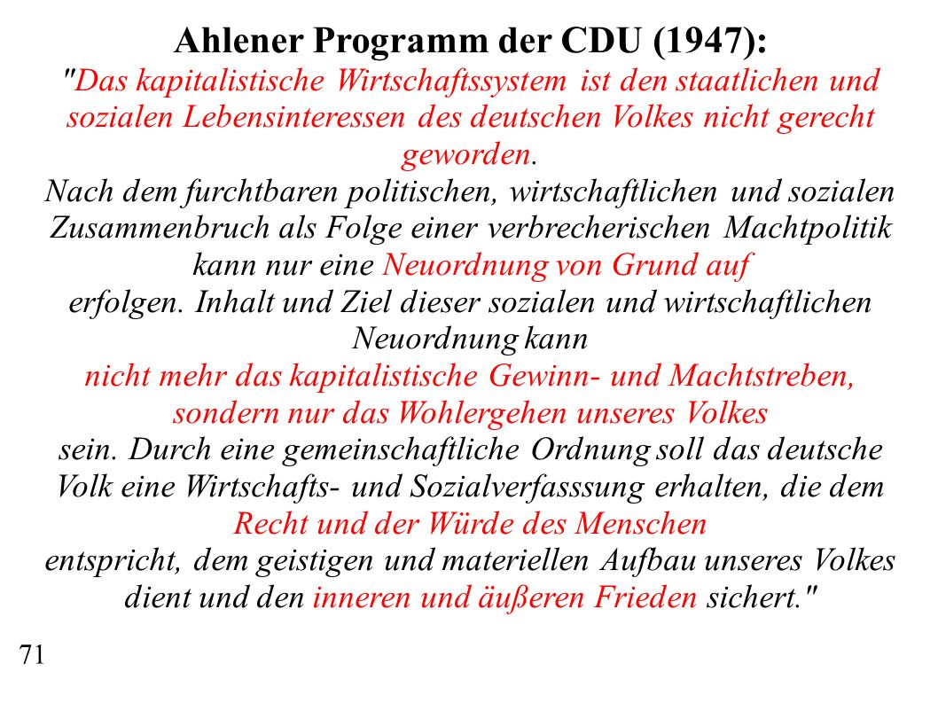 Ahlener Programm der CDU (1947):