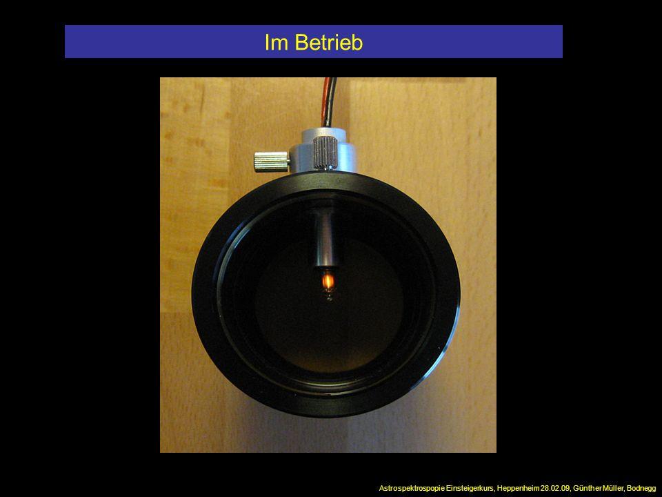 Im Betrieb Astrospektrospopie Einsteigerkurs, Heppenheim 28.02.09, Günther Müller, Bodnegg