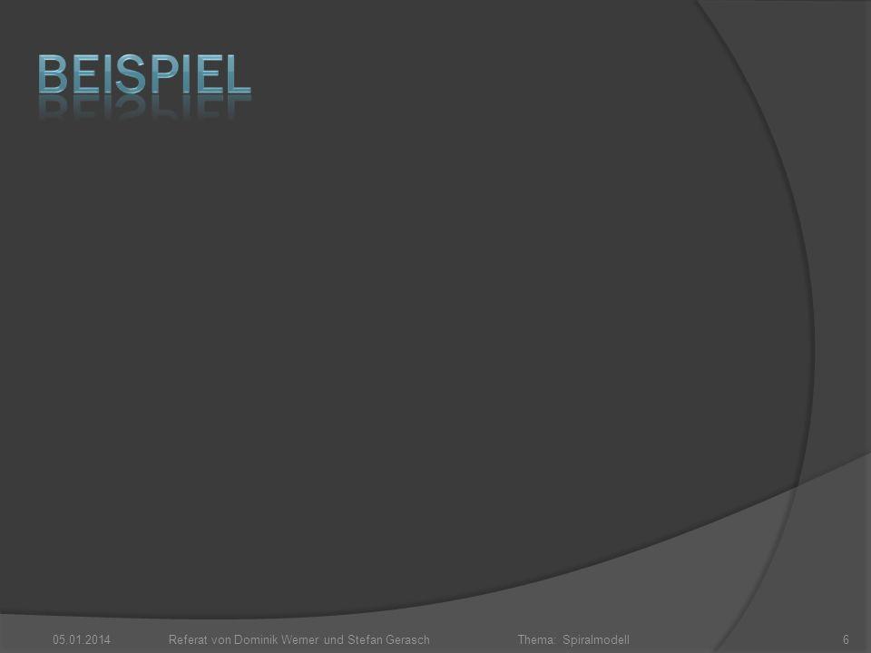 Thema: Spiralmodell 05.01.2014Referat von Dominik Werner und Stefan Gerasch6