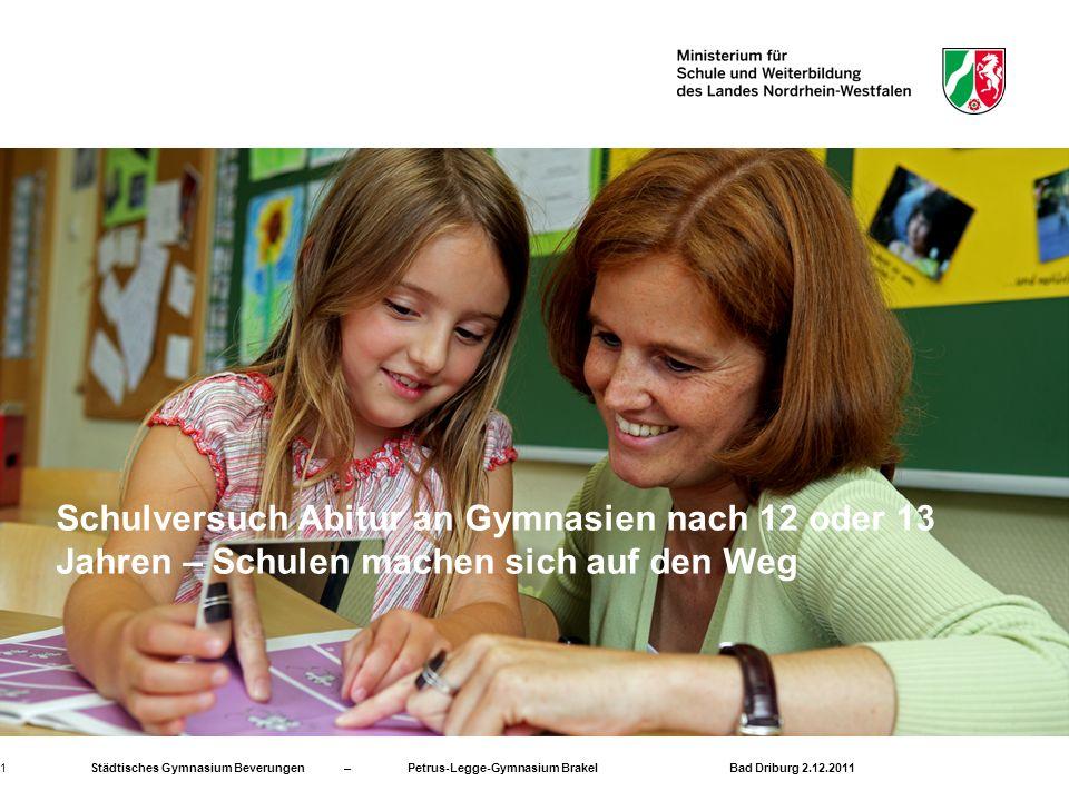 Städtisches Gymnasium Beverungen – Petrus-Legge-Gymnasium Brakel Bad Driburg 2.12.201112 Wir danken für Ihre Aufmerksamkeit .