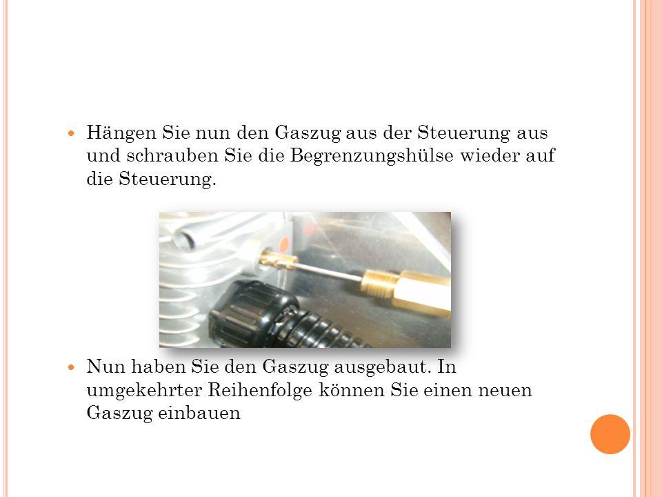 2.Schritt – Demontage der Steuerung Mit einem Schraubenschlüssel mit der Schlüsselweite 8 lösen Sie zuerst die 4 Muttern an der Innenseite des Blechs.