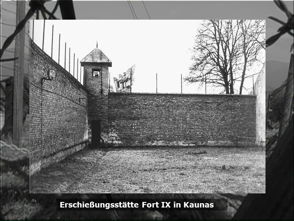 Erschießungsstätte Fort IX in Kaunas