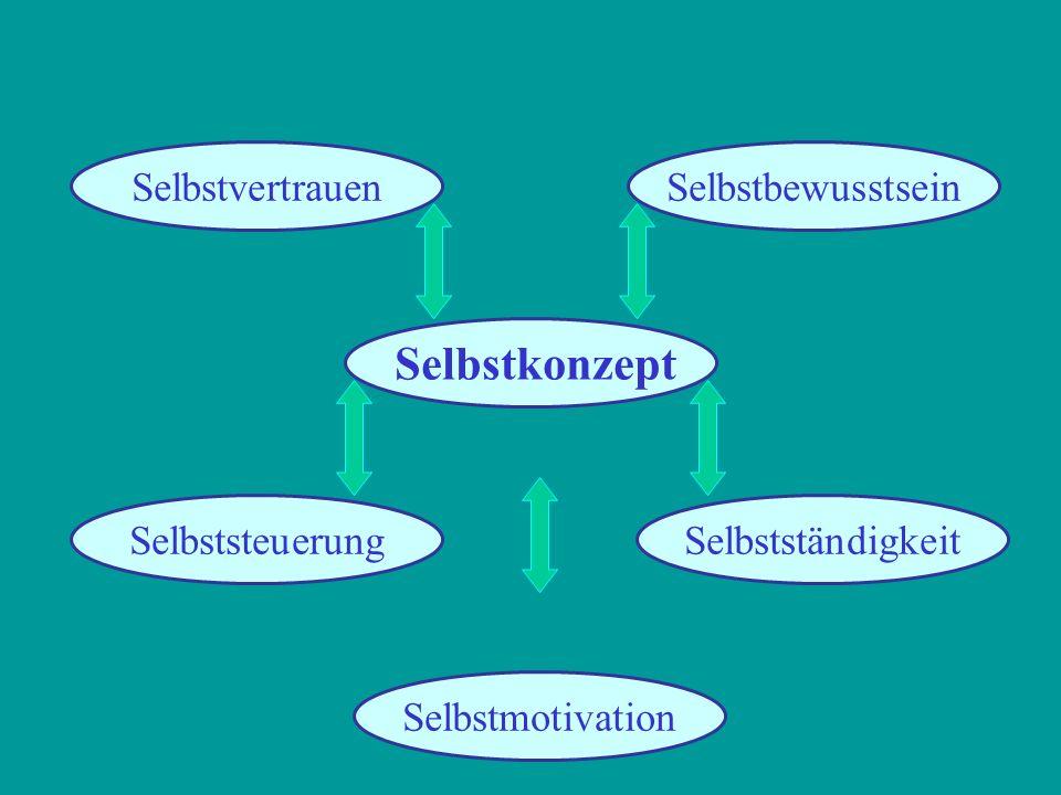 SelbstbewusstseinSelbstvertrauen SelbstständigkeitSelbststeuerung Selbstmotivation Selbstkonzept