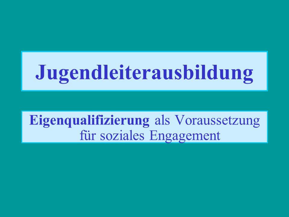 Jugendleiterausbildung Eigenqualifizierung als Voraussetzung für soziales Engagement