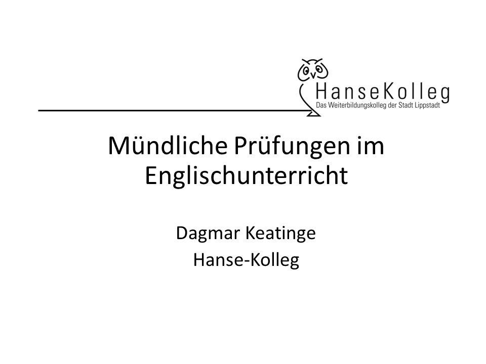 Mündliche Prüfungen im Englischunterricht Vorbereitung im Unterricht Vorbereitung Zusammenhängendes Sprechen (vor der Klausur) TASK: Please summarize pp.