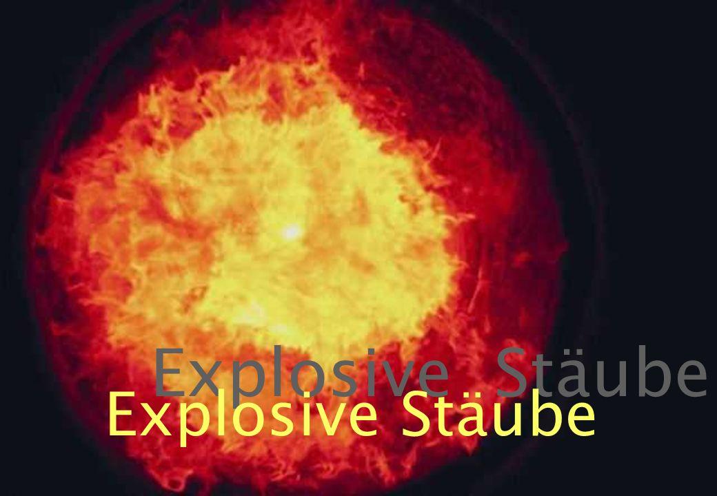 34 Explosive Stäube