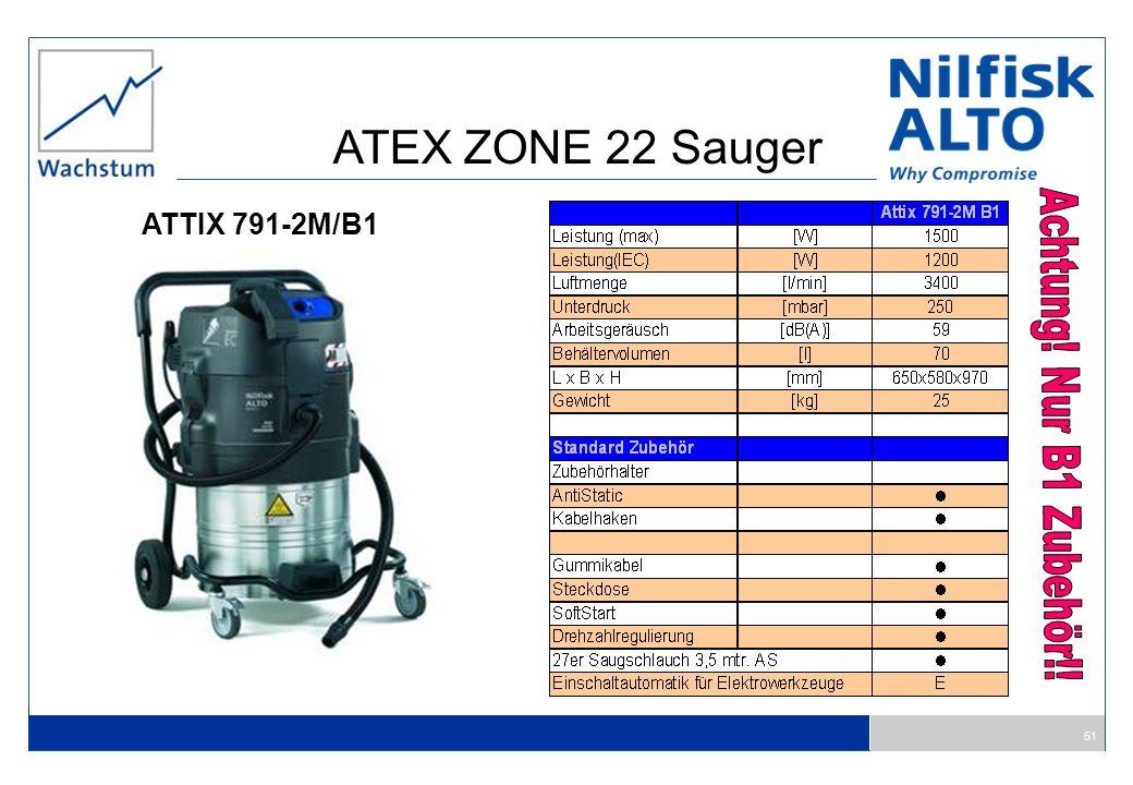 51 ATTIX 791-2M/B1 ATEX ZONE 22 Sauger