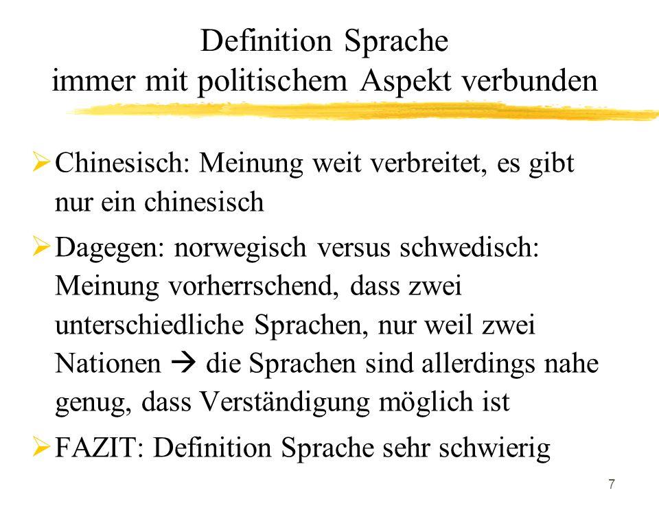 18 Phänomen der Pronomenvertauschung (pronoun refersal) Deiktika, i.e.