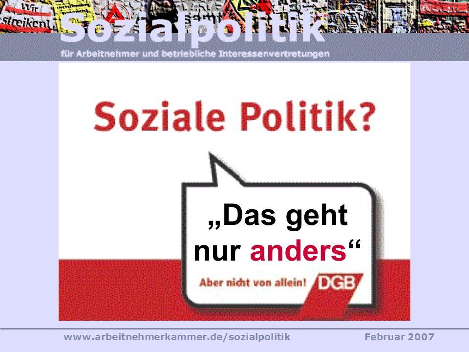 www.arbeitnehmerkammer.de/sozialpolitikFebruar 2007 Wo und wer ist der Eierdieb?
