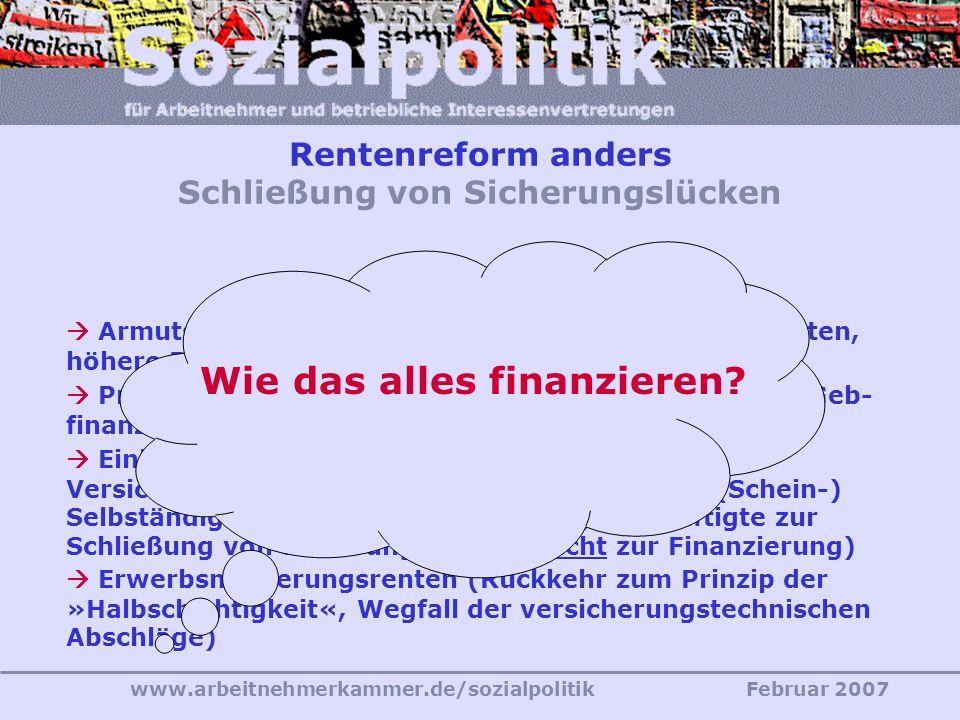 www.arbeitnehmerkammer.de/sozialpolitikFebruar 2007 Das geht nur anders