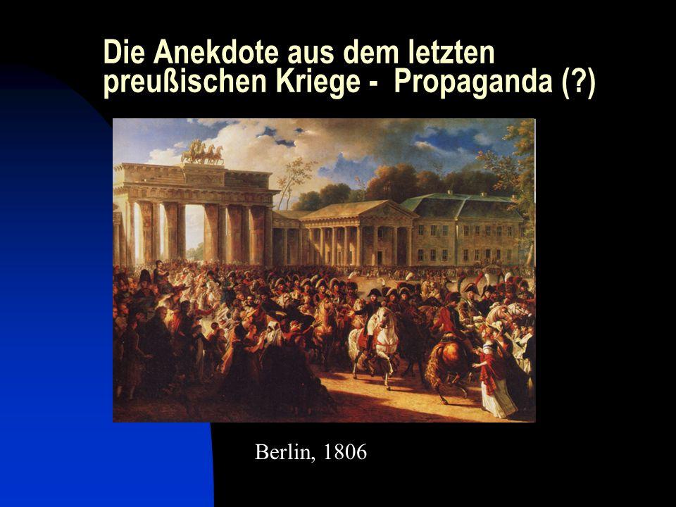 Die Anekdote aus dem letzten preußischen Kriege - Propaganda (?) Berlin, 1806