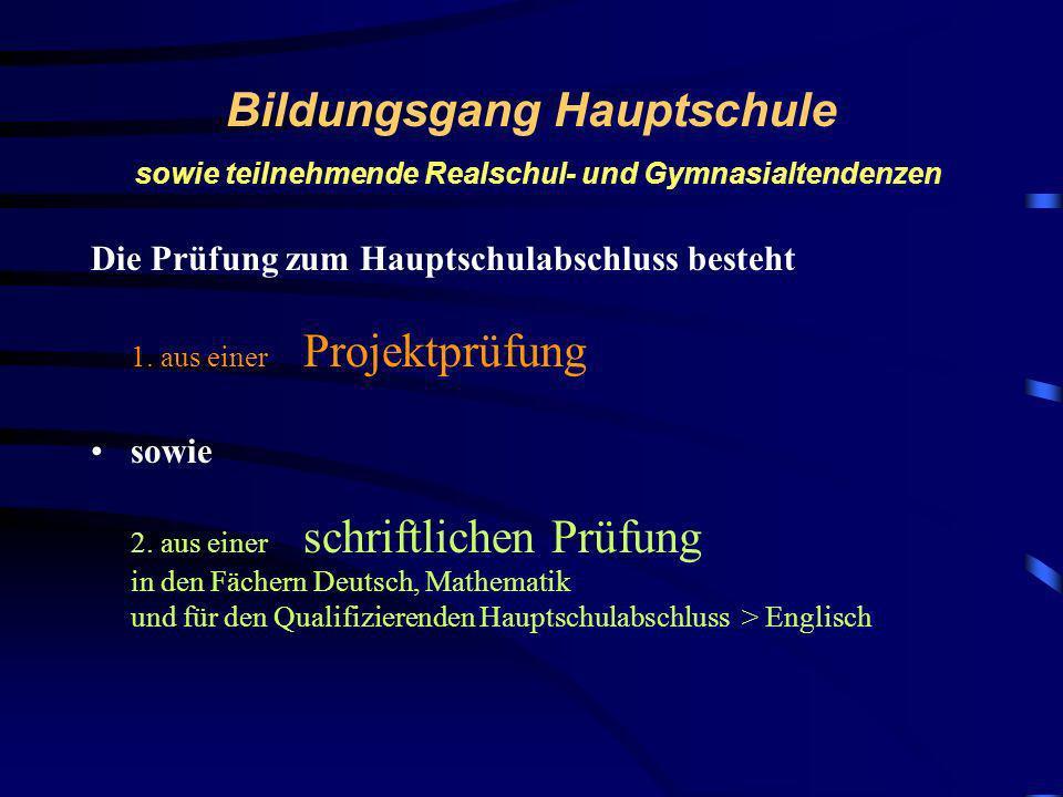 Heinrich von Brentano Schule Prüfungen und Abschlüsse im 9. Jahrgang Verordnung über die Bildungsgänge der Mittelstufe Hauptschulabschluss Qualifizier
