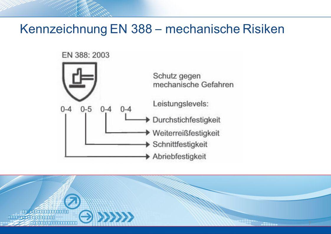 7 Kennzeichnung EN 388 – mechanische Risiken