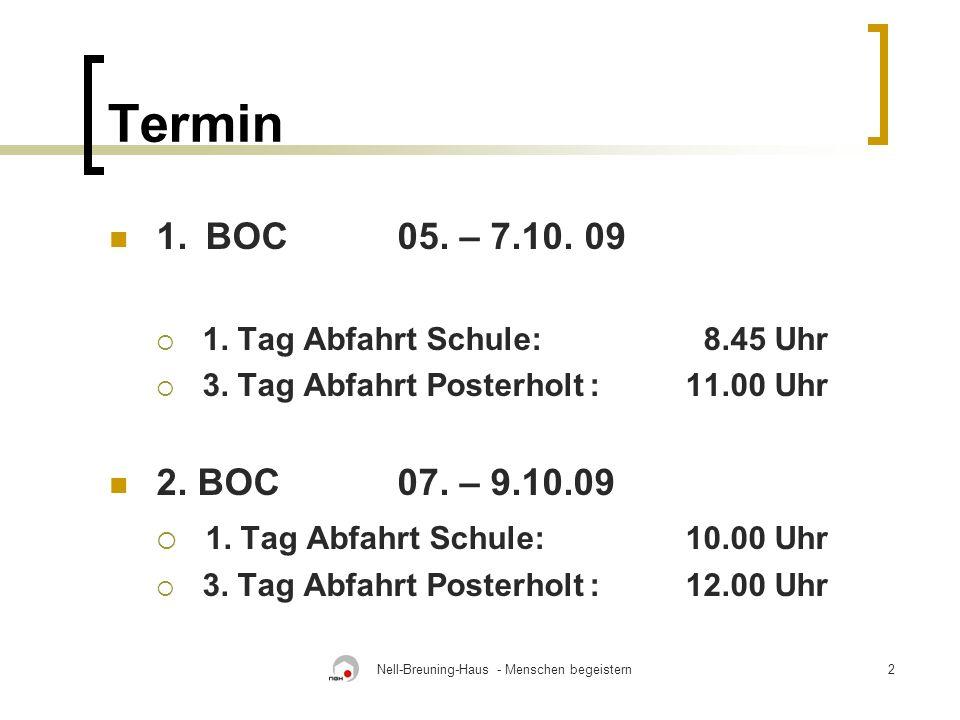 Nell-Breuning-Haus - Menschen begeistern2 Termin 1.BOC 05.