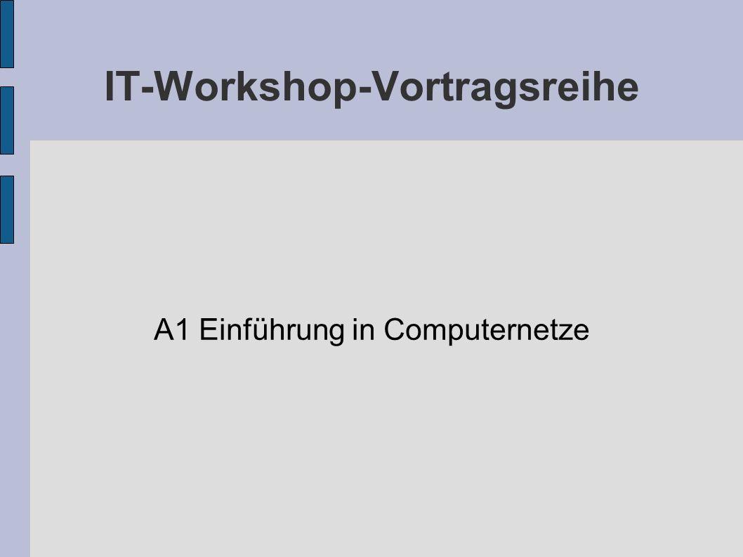 IT-Workshop-Vortragsreihe A1 Einführung in Computernetze