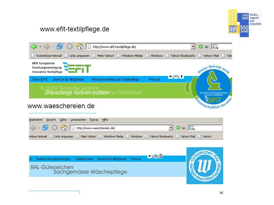 www.efit-textilpflege.de www.waeschereien.de