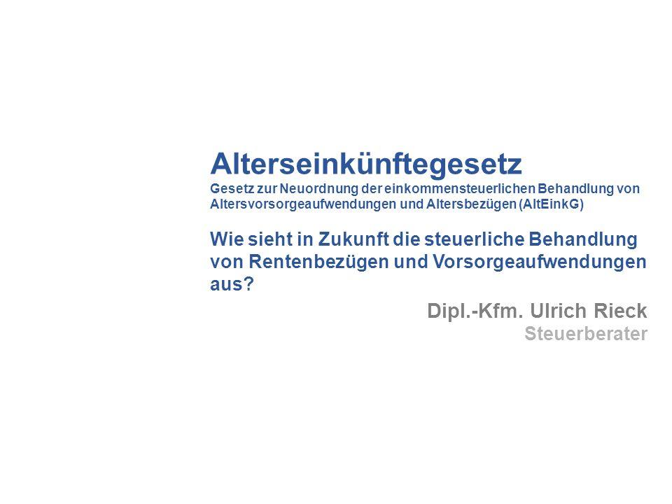 Rürup-Rente (Basisversorgung) Neu ab 2005: Kapitalgedeckte Altersvorsorgeprodukte (sog.