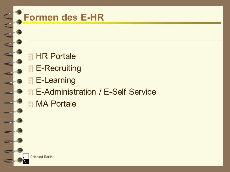 Reinhard Rößler Begriffsdefinition E-HR Alle Lösungen zur elektronischen Unterstützung der Personalarbeit im Internet / Intranet