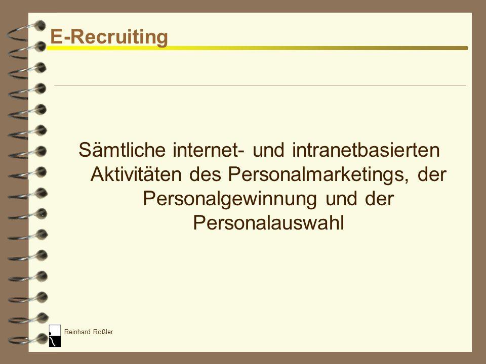 Reinhard Rößler HR Portale 4 Schon relativ hoher Bekanntheitsgrad (>50%) 4 Jedoch noch relativ geringe Nutzungsquote –Gründe