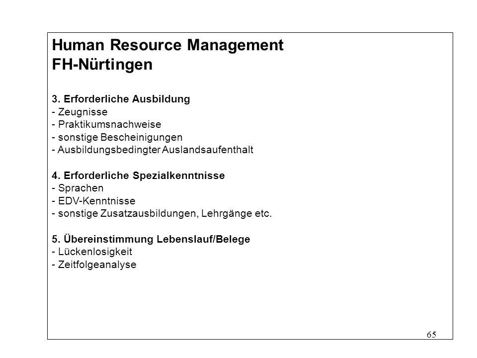 65 Human Resource Management FH-Nürtingen 3.